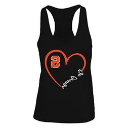 Syracuse Orange Heart 3/4 Black Women's Tank Top - Official