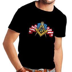 T Shirts for Men USA Flag G gnosisl Square and Compass Logo