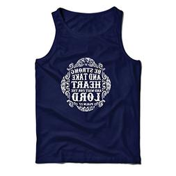 lepni.me Men's Tank Top Wait for The Lord - Books on The P