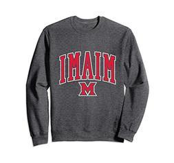 Unisex Miami University MU RedHawk NCAA Crew Neck Sweatshirt