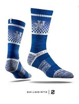 university blue crew socks