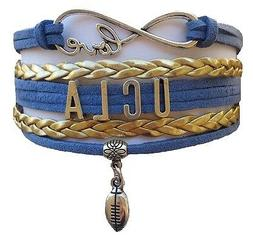 university california ucla bruins college infinity bracelet