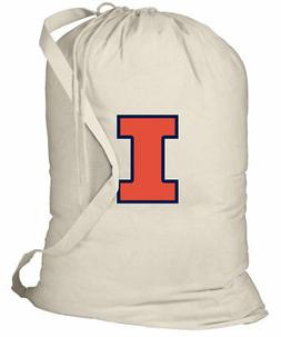 University of Illinois Laundry Bag ILLINI Clothes Bags COTTO