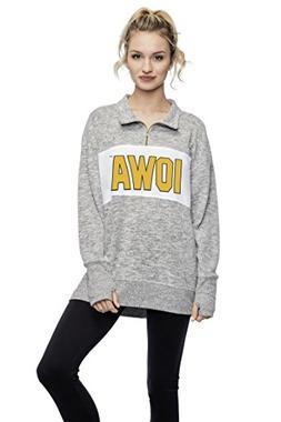 chicka-d University of Iowa Ladies Quarter Zip Sweater/Pullo