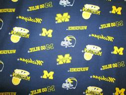 UNIVERSITY OF MICHIGAN WOLVERINES U of M BLUE OVERALL COTTON