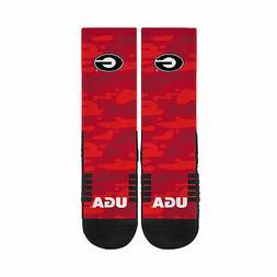 university of georgia camoflage red crew socks