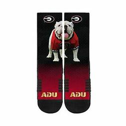 Strideline University of Georgia Mascot Ugga Black Crew Sock