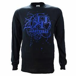 University of Kentucky UK SPLATTER BALL LS Black Shirt Baske