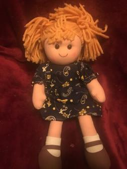 University of Michigan cloth rag doll student sports fan wit