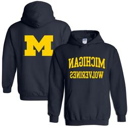 University of Michigan Wolverines Front and Back Print Hoodi