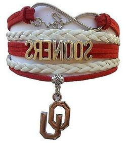 university of oklahoma sooners college infinity bracelet