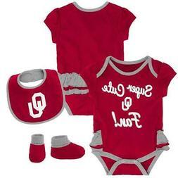 University of Oklahoma Sooners Creeper, Bib and Bootie Set I