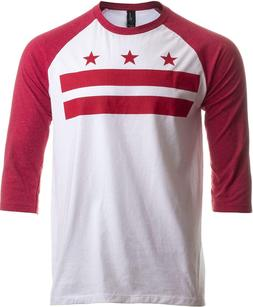 Washington, DC Flag | D.C. Capitol Raglan Shirt, Baseball T-