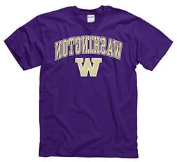 Campus Colors Washington Huskies Adult Arch & Logo T-Shirt -