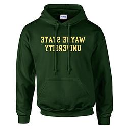 Wayne State Basic Block Hoodie - X-Large - Forest Green