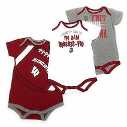 OuterStuff Wisconsin Badgers Baby Clothing, University 3 Pie