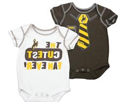 Outerstuff Wyoming Cowboys Baby Clothing, University 2 Piece