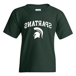 YS03 - Michigan State Spartans Arch Logo Youth T-Shirt - Sma