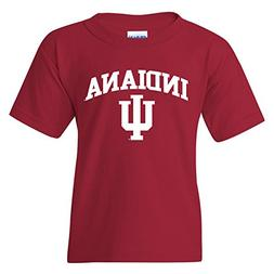 YS03 - Indiana Hoosiers Arch Logo Youth T-Shirt - X-Large -